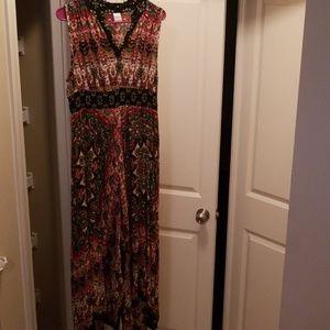 Bila long sleeveless dress